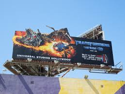 coke discount halloween horror nights 2012 daily billboard transformers 3d ride universal studios hollywood