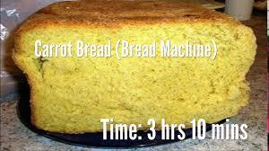 Pumpkin Spice Bread Machine Carrot Bread Bread Machine Recipe Youtube