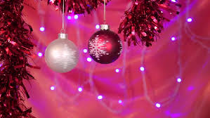 Purple Gold Christmas Decorations Christmas Background Loop Rotating Christmas Decorations And