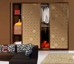 bedroom sliding closet doors with frosted glass door connected by