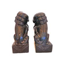 pictures of foo dogs onyx carved foo dogs a pair chairish