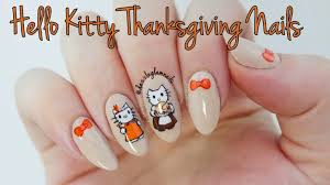 nails art video tutorial kitty thanksgiving nail tutorial