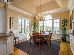 traditional dining room with carpet u0026 crown molding in alamo ca
