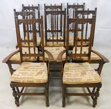 Ercol Dining Chair Set Of Eight Ercol High Back Elm Dining Chairs From
