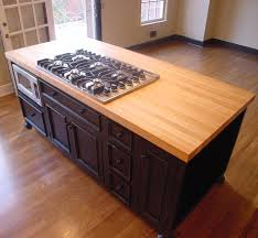 furniture wood butcher block countertops with oven and black