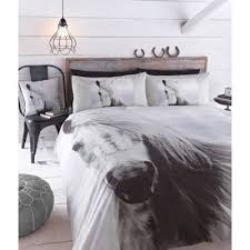 buy catherine lansfield beautiful horse duvet cover set double