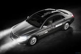 future mercedes mercedes u0027 digital headlamps of the future will be able to project