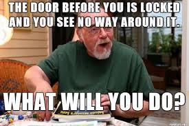 Door Meme - d d meme the locked door pics video