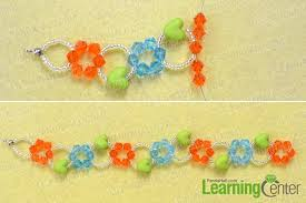 bead flower bracelet images How to make a colorful glass bead flower bracelet at home for the jpg