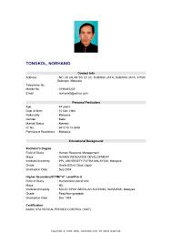 Sample Resume Objectives For Fresh Graduates Hrm resume sample for hrm graduate templates