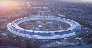 latest drone footage offers clearest look yet at apple park ahead