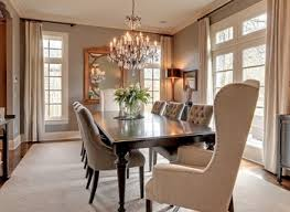 fancy dining room decorating ideas with round shape wooden glass
