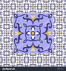 Tile Floor In Spanish by Italian Tiles Floor Vintage Pattern Vector Stock Vector 680005537
