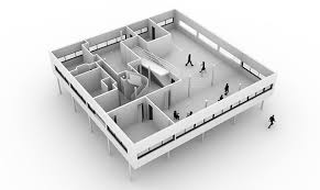Villa Savoye Floor Plan 3d Modeling With Rhino