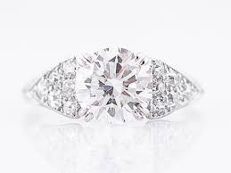 antique engagement ring art deco 1 50 gia round brilliant cut