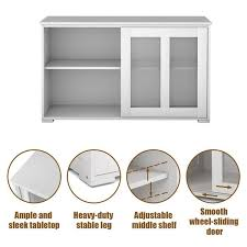 glass kitchen cabinets sliding doors wooden buffet cupboard storage sideboard with sliding glass