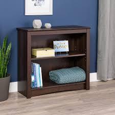 Sauder 2 Shelf Bookcase by Amazon Com Espresso 2 Shelf Bookcase Kitchen U0026 Dining
