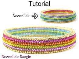 bead bangle bracelet images Beading tutorial pattern bangle bracelet flat tubular