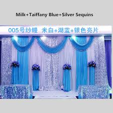 wedding backdrop aliexpress silk white wedding backdrop curtain with purple sequins swag