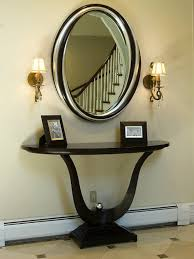 Entryway Tables And Consoles Cool Entry Console Table With Mirror With Foyer Table And Mirror