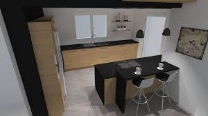 jeux cuisines b4 cuisine moderne en bois avec îlot