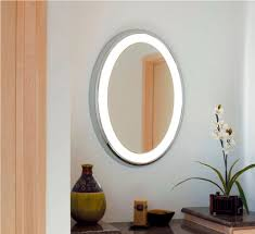 oval bathroom mirrors with lights doherty house assembling