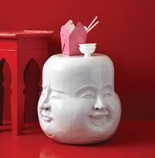 laughing buddha expressions global bazaar white garden stool