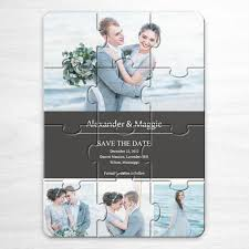 make your own save the date your own save the date cards grey 4 photo collage