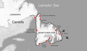 Map Of Newfoundland Canada by Adventure Canada Arctic Antarctic East Coast Cruises