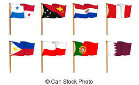 clip art of countries of p flag maps and flag badges of all the