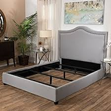 Studded Bed Frame Grey Upholstered Studded Fabric Size Bed