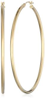 large gold hoop earrings 14k yellow gold hoop earrings 2 diameter jewelry