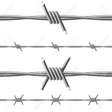 barbed wire illustration on white background for design royalty
