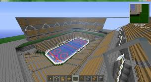 minecraft sports stadium minecraft hockey stadium video game fun pinterest minecraft