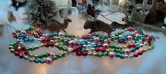 vintage glass bead tree garland