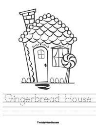 house outline template base for gingerbread house art clipart