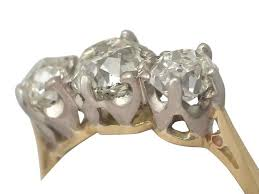 18 carat diamond ring antique 1920s 2 10 carat diamond and 18 k yellow gold trilogy ring