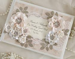 vintage guest book wedding guest book gold blush chagne personalized lace