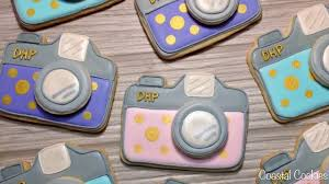 how to decorate camera sugar cookies youtube