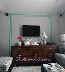 dark grey tv accent wall