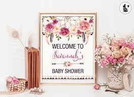 bohemian baby shower boho baby shower welcome sign bohemian baby shower printable