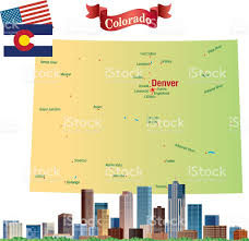 Colorado Map Of Cities by Cartoon Map Of Colorado Stock Vector Art 622219660 Istock