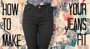 how to make the waist of your jeans smaller youtube