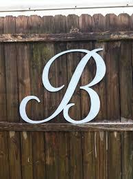 hand cut wood letter b 24