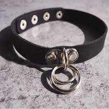 punk choker necklace images 1 unisex women men classic punk rock dark harajuku double o circle jpg