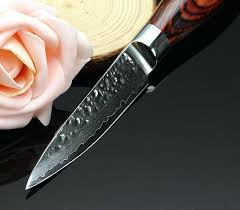 handmade kitchen knives uk 35inch damascus paring knife sharp handmade hammer damascus custom