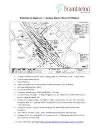 Dulles Terminal Map Dulles Metro Silver Line Ashburn Station By Brambleton Group Issuu