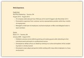 Resume Work Experience Examples For Customer Service by Resume Employment Dates On Resume