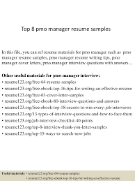 resume headline samples top8pmomanagerresumesamples 150331212510 conversion gate01 thumbnail 4 jpg cb 1427855150