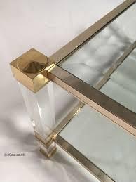 Pierre Vandel Paris Coffee Table Pierre Vandel Paris A 22ct Gold Plated Lucite Perspex And Glass
